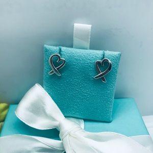 Tiffany & Co Large loving heart earrings